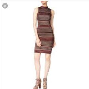 Bar III mockneck bodycon dress